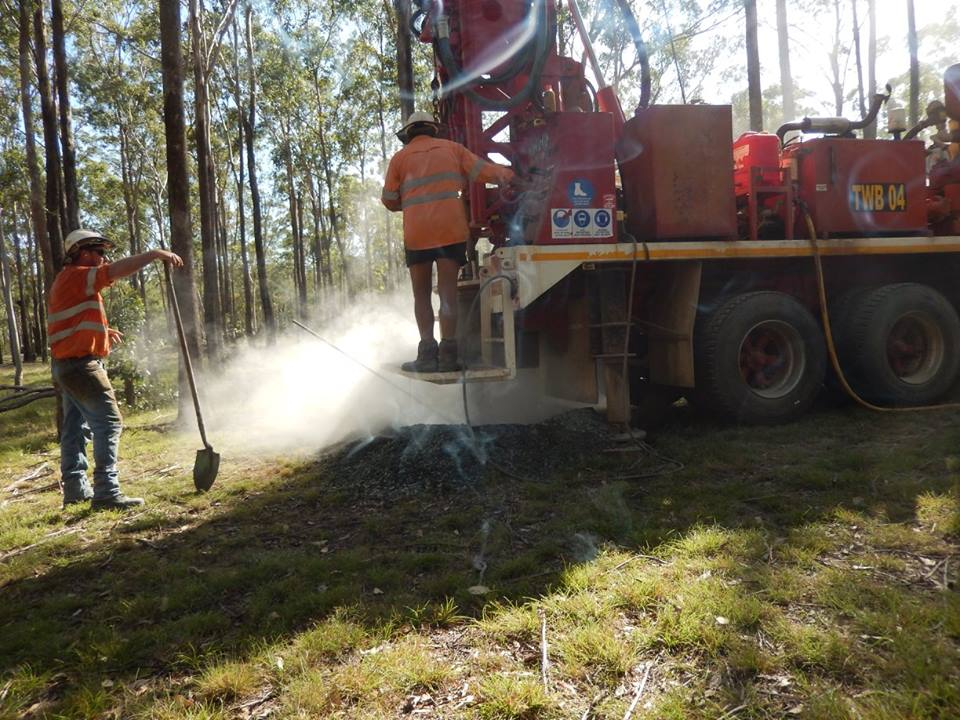 Tropical Water Bores Truck, Men at Work, Drilling, Water Bores,