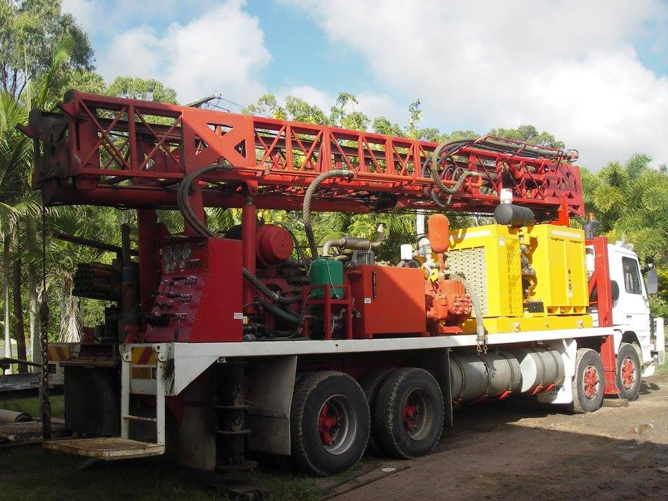 Drilling Rig, Sullair Compressor, Scania Truck Support